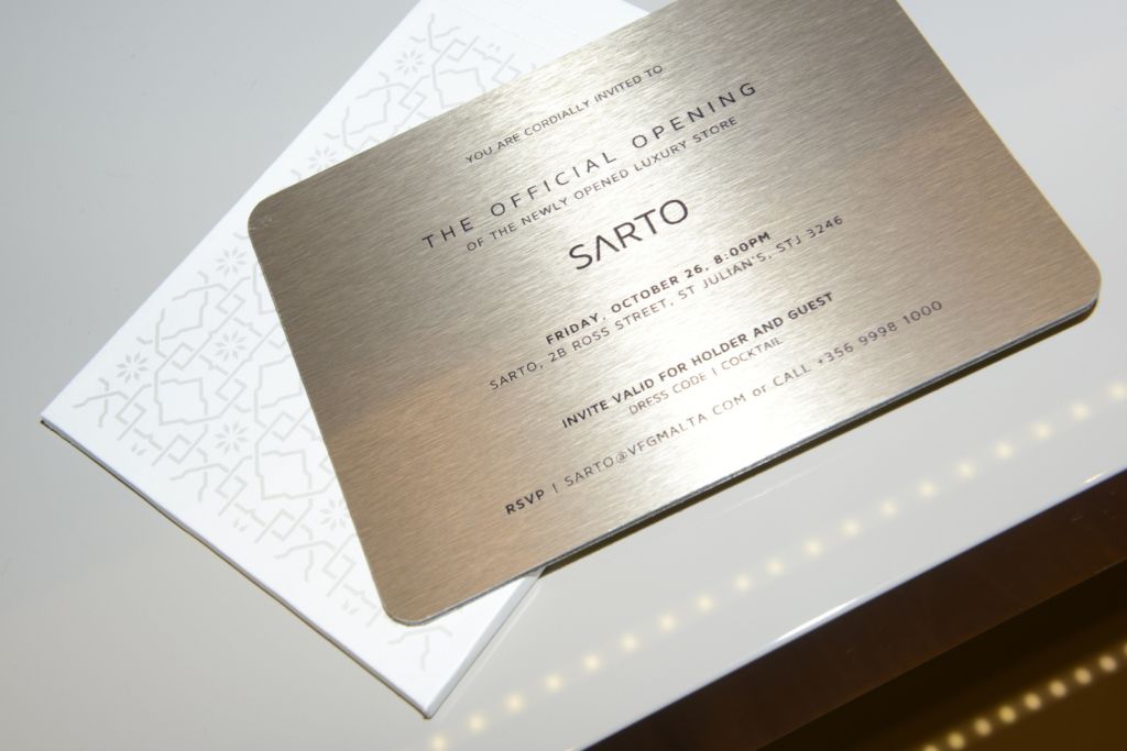 Sarto is founded as Malta's first luxury fashion retail concept